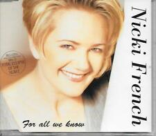NICKI FRENCH - For all we know CDM 4TR Eurodance Hi-Nrg 1995 STOCK & AITKEN