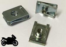 20x Fairing Clips M5 Bodywork Panel Speed Clips Motorcycle Bike U Nut Suzuki