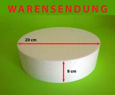 Styropor-Scheibe Ø 20 Torte Höhe 8 cm Rohling Dummy Hochzeit Cake Grundlage rund