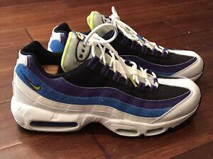 Nike DD9600 100 Mens Air Max 95 Kaomoji White Blue Gray Purple Running Shoes 11