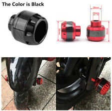 Black Carbon Fiber Motorcycle Front Fork Frame Sliders Anti-collision Protector