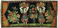 Antique 5x9 SAMARGHAND Rug DANCING GIRLS COLLECTIBLE