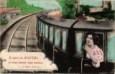 CPA  Je pars de Nantes et vous envoie mes amities (222782)