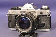 "Canon AE-1 Chrom Program Spiegelreflex SLR & FD 1,4 x 50mm "" Very Nice """