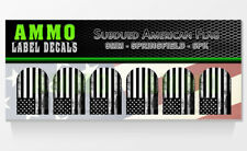 SPRINGFIELD XD / XDM 9MM - Subdued American Flag - Mag Base Plate Sticker 6 PACK