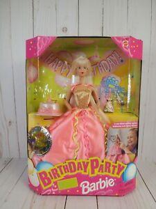 🎂Vintage 1998 Mattel Birthday Party Barbie Doll Blow Up Balloons Birthday Cake