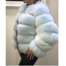 Fur-Couture 100% Fox Fur Cropped Bubble Coat/ Jacket