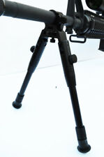 Barrel Mounting Bipod for rifles Extentable & Foldable legs Solid metal BLACK