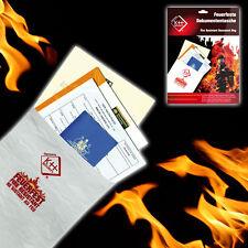 KH Security Feuerfeste Dokumententasche Dokumentenmappe Firebag Schutzmappe