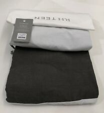 Restoration Hardware Solid Linen-Cotton Twin Bed Skirt Charcoal NEW $79