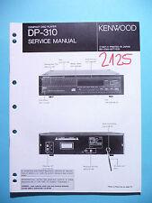 Manuel de reparation pour Kenwood dp-310, original