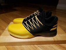 Adidas Harden Vol 1 Boost Yellow Black Basketball Shoes Size 18 Fear Killer Bee