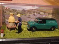 1:43 Scale MORRIS MINI Van   French diorama Blue route series by Altaya
