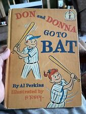 Dr. Seuss I Can Read Books Don And Donna Go To Bat Perkins Twins Baseball 1966