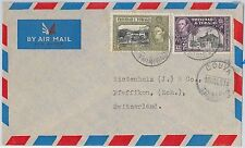 TRINIDAD & TOBAGO postal history - AIRMAIL COVER from COUVA to SWITZERLAND 1951