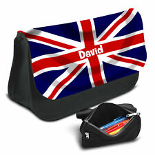 UK Flag Personalised Pencil Case Game School Bag Kids Stationary - 18