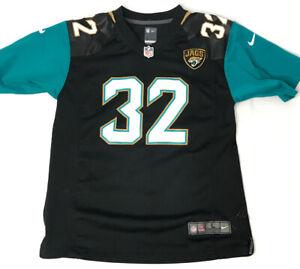 Nike On Field Youth Size Large Black Blue Jones-Drew #32 Jaguars Football Jersey