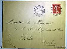 SEMEUSE  sur lettre LOCHES 1907 201ca44