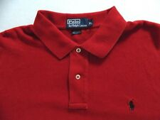 Mens Polo Ralph Lauren Red Long Sleeve Soft Interlock Polo Shirt Size XL