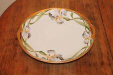 Antique Hand Painted Iris KPM Porcelain Cake Plate Tray Artist Signed W.Wilson