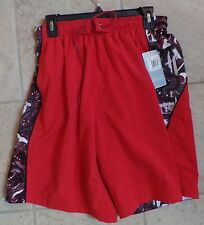 Reebok Men's Relay Red Swim Trunk Board Shorts Size S Small NWT MSRP $42