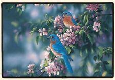 "DOORMAT--18"" X 27""--BLUEBIRDS by Fiddler's Elbow"