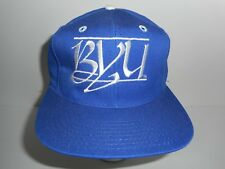 Vintage 80s The Game Glued Tag Script Bar BYU Cougars Snapback Hat Cap