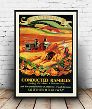 Autumn conducted rambles : Old Travel Poster reproduction