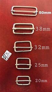 Metal Slides Tri-Glides Wire-Formed Roller Pin Buckles Strap Adjuster many sizes