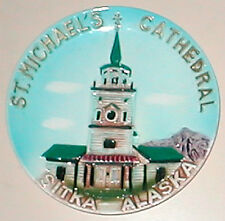 """Sitka,Alaska.8"""" vintage Collector plate. St.Michael's Russian Orthodox Cathedral"""