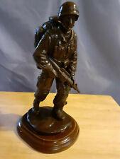 160mm trooper on patrol Figure in Bronze Resin
