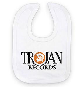 TROJAN RECORDS - Ska Reggae Roots Music  - Cotton Baby Bib