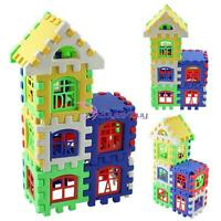 24pcs Colorful Baby Kids Children House Building Block Educational Puzzle Toy YB