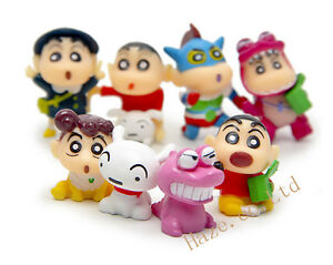 Cartoon Crayon Shinchan Mini PVC Mini Figure Toy Kids Gift 8pcs/set New