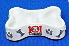 Disney Store 101 Dalmatians Divided Dog Food Water Bowl