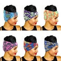 Women African Print Stretch Headband  Headwear Turban Bandage Hair Accessories