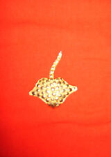 Stingray Gold Coloured Vintage Brooch Sea Creature Fish Used***