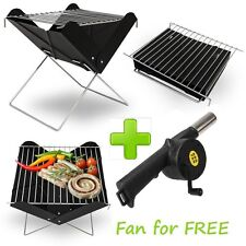 BBQ BARBECUE GRILL FOLDING PORTABLE CHARCOAL GARDEN TRAVEL OUTDOOR CAMPING