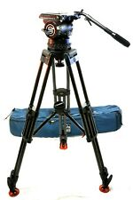 SACHTLER STUDIO II HEAD 150mm CF CARBON  6386 2 STAGE 7007 TRIPOD SERVICED 110Lb