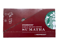 BULK 120 Starbucks Sumatra Dark Roast Coffee Capsules by Nespresso, EX 6/23/21