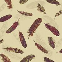 Nuevo Arthouse Vintage Pluma Pájaro diseño de Papel pintado vinilo con relieve