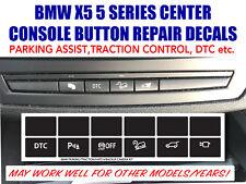 BMW X5 E92 E93 CENTER CONSOLE  CONTROL SWITCH BUTTON REPAIR DECAL