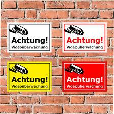 Schild Achtung! Videoüberwachung - in 4 Größen - S00348-123
