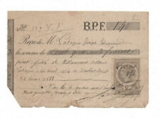 1890 printed and manuscript receipt official stamp