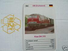 24 EK LOKS D2 DB GERMANY KLAS DH 215 TRAIN TREIN KWARTET KAART,