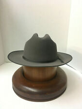 Stetson Cowboy Hat 6X Beaver Felt Caribou Open Road With Hat Brush Cleaner!!
