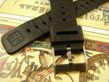 """20mm CASIO GENUINE RUBBER NEVER USED BLACK  """"SP"""" STEEL BUCKLE DIVE WATCH BAND"""