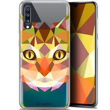 "Gel Case Cover for Samsung Galaxy A70 (6.7 "") Extra Fine Polygon Animals - Cat"