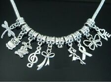Wholesale 50 Tibetan Silver Mixed Bulk Lots Dangle Charm Fit Bracelet ZN10