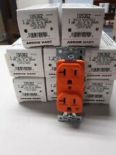 isolated ground receptacles arrow hart IG5362 qty. 8 NEW